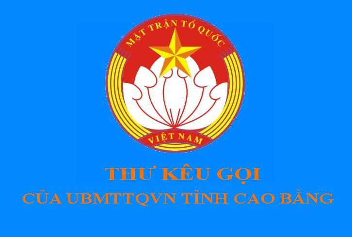 Thư kêu gọi ủng hộ Quỹ Vì người nghèo tỉnh Cao Bằng