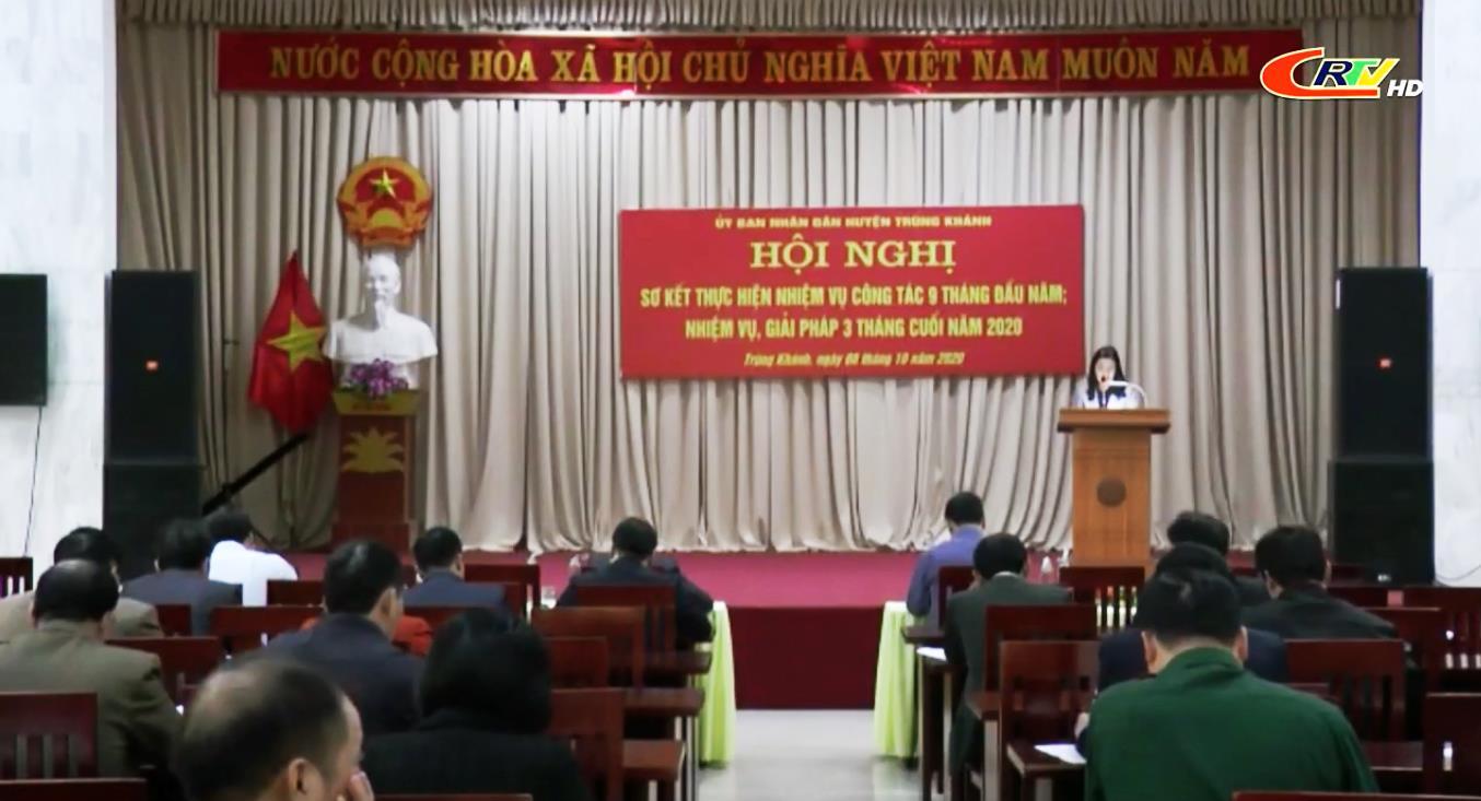 Trùng Khánh: Sơ kết công tác 9 tháng đầu năm 2020