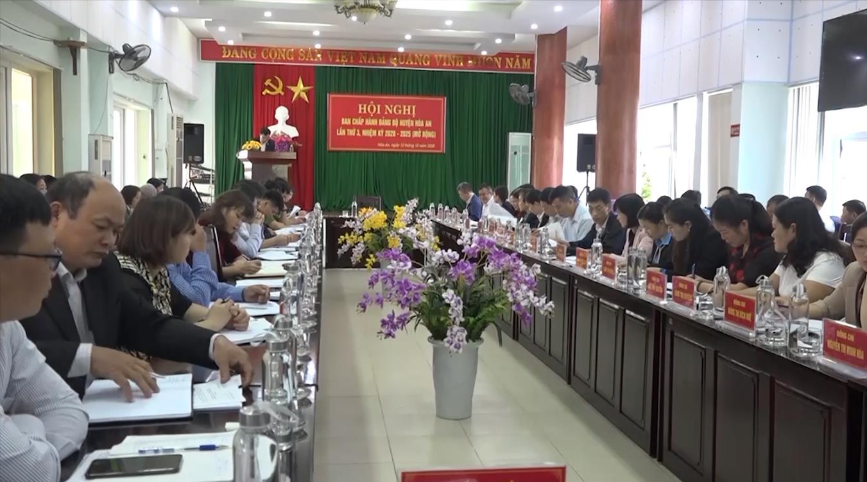 Hội nghị lần thứ 3 Ban Chấp hành Đảng bộ huyện Hòa An nhiệm kỳ 2020 - 2025
