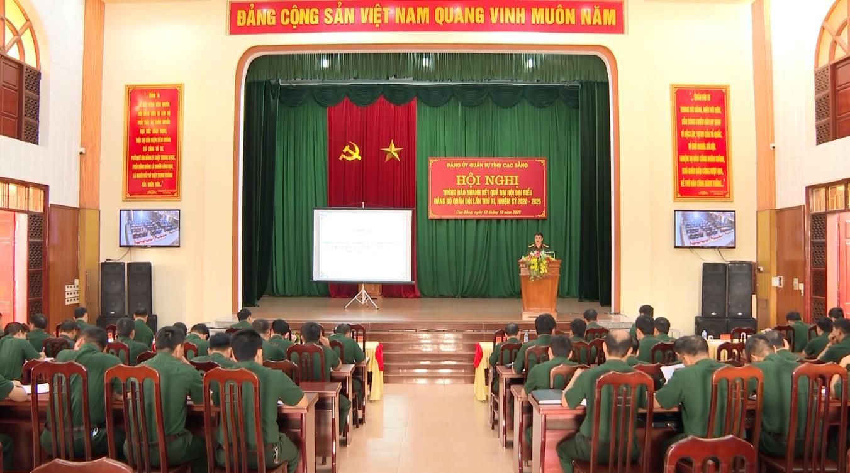Đảng ủy Quân sự tỉnh: Thông báo nhanh kết quả Đại hội đại biểu Đảng bộ Quân đội lần thứ XI, nhiệm kỳ 2020 - 2025