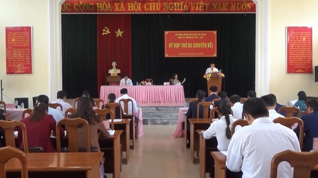 Hà Quảng: Kỳ họp thứ 3 HĐND huyện khóa XX, nhiệm kỳ 2016 - 2021