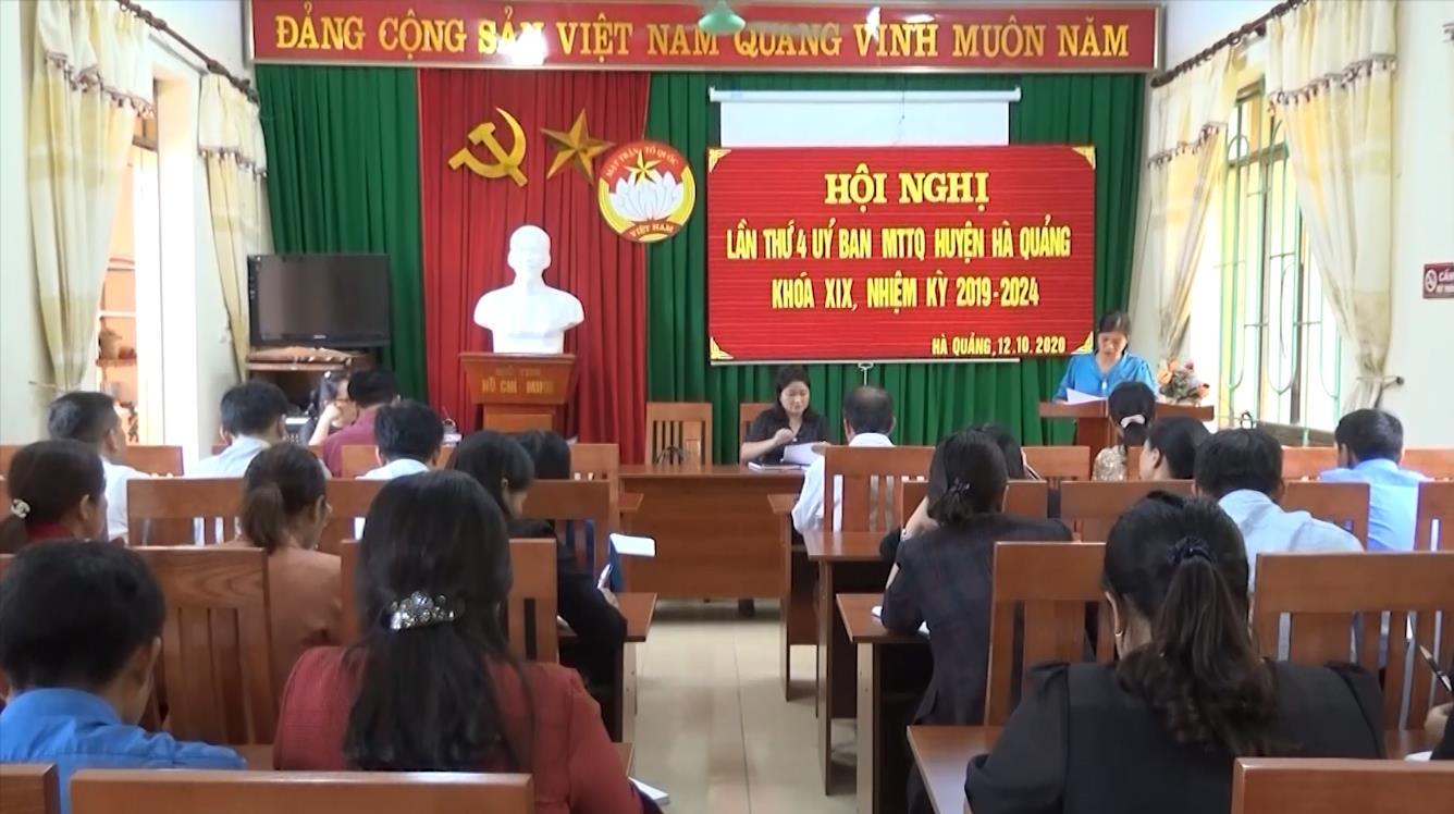Hà Quảng: Hội nghị lần thứ 4 Ủy ban MTTQ huyện khóa XIX, nhiệm kỳ 2019 - 2024