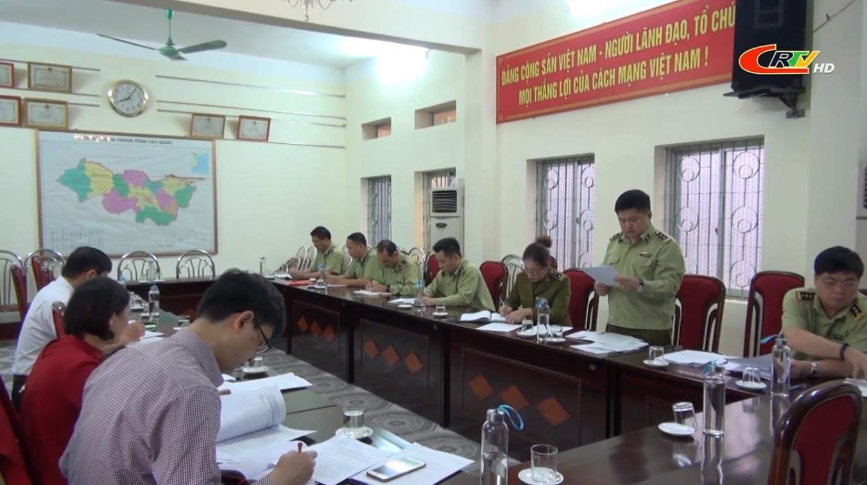 Giám sát công tác quán triệt, triển khai Nghị quyết Đại hội nhiệm kỳ 2020 - 2025 tại Đảng ủy Cục quản lý thị trường tỉnh