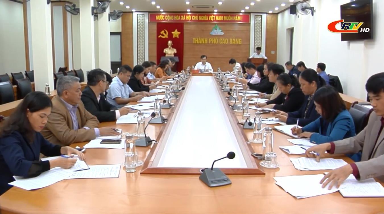 Thường trực HĐND thành phố Cao Bằng giao ban công với Thường trực HĐND các phường, xã