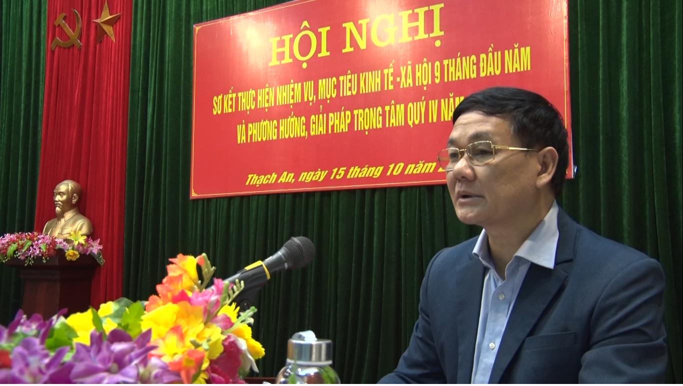 Thạch An: Sơ kết thực hiện nhiệm vụ mục tiêu kinh tế - xã hội 9 tháng đầu năm 2020