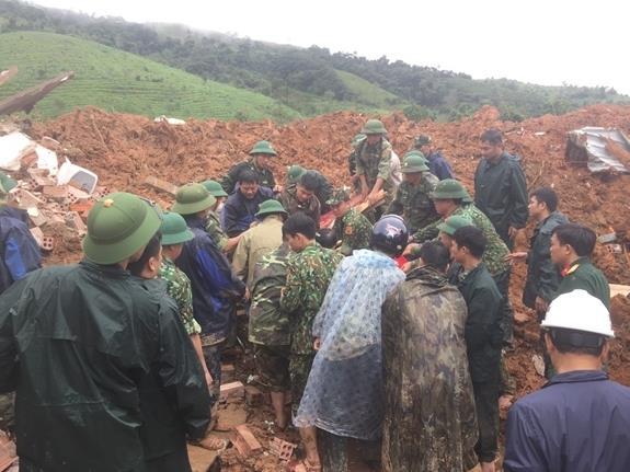 Đã tìm thấy thi thể 3 nạn nhân tại khu vực đóng quân của Đoàn Kinh tế-Quốc phòng 337 (Quân khu 4)