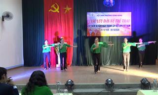 Thành phố: Hơn 100 hội viên phụ nữ phường Sông Bằng tham gia giao lưu dân vũ