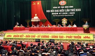 Đại hội đại biểu Đảng bộ tỉnh Ninh Bình lần thứ XXII