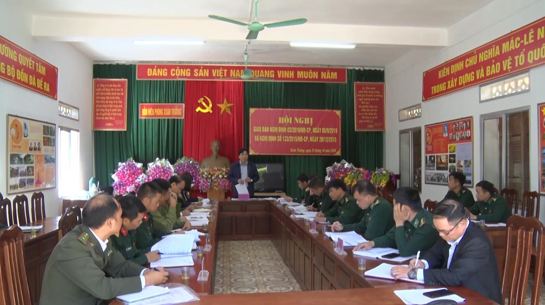 Bảo Lạc: Giao ban Nghị định 03 và Nghị định 133 của Chính phủ