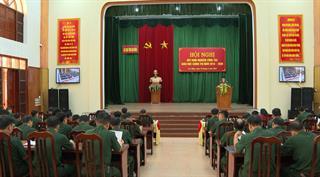 Bộ CHQS tỉnh: Rút kinh nghiệm công tác giáo dục chính trị giai đoạn 2018 - 2020