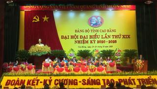 Khai mạc trọng thể Đại hội đại biểu Đảng bộ tỉnh Cao Bằng lần thứ XIX, nhiệm kỳ 2020 - 2025