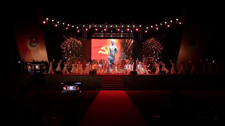 Chương trình nghệ thuật chào mừng thành công Đại hội đại biểu Đảng bộ tỉnh lần thứ XIX, nhiệm kỳ 2020 - 2025