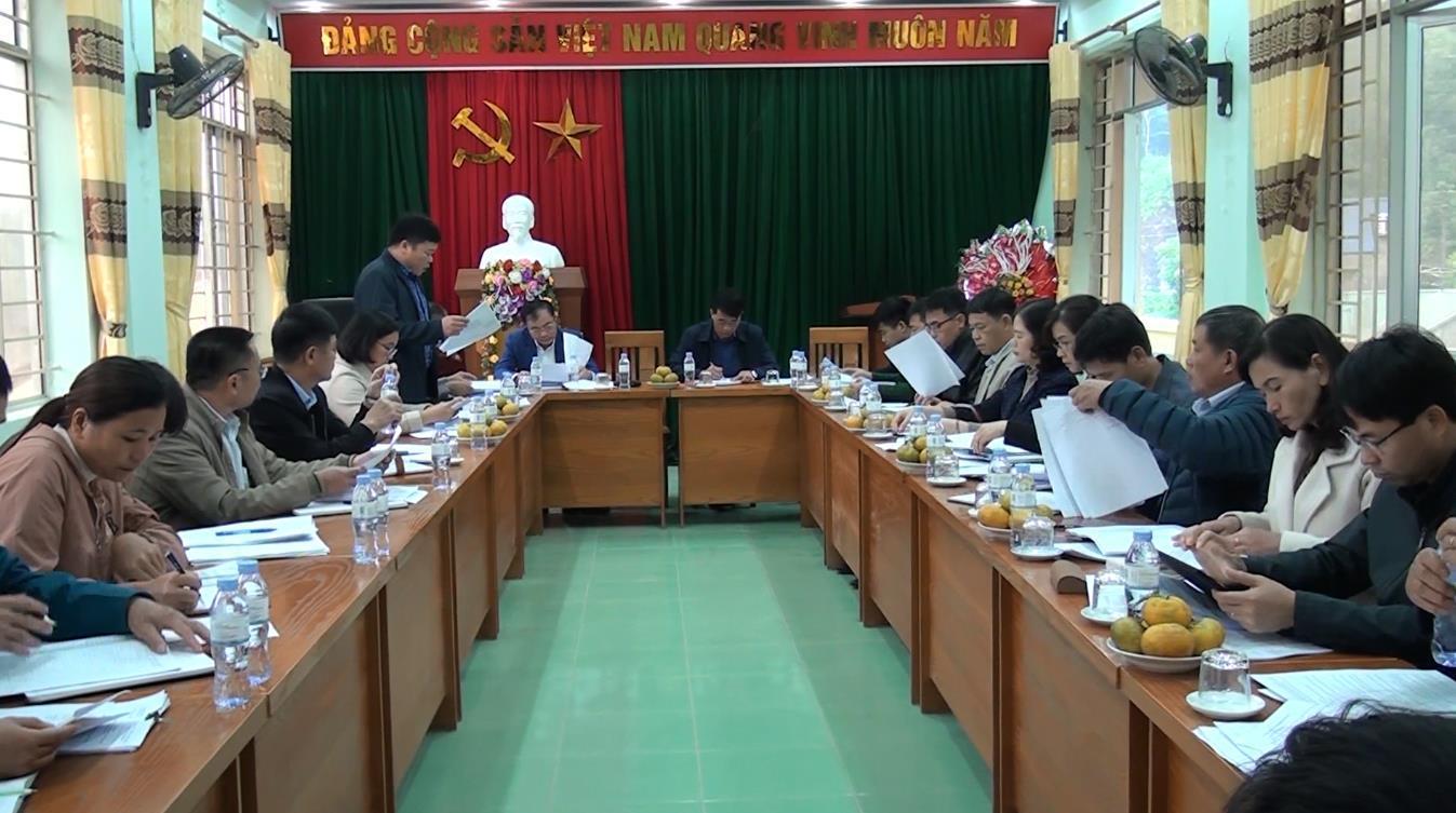 Hà Quảng: Thẩm tra xã Lương Can đạt chuẩn nông thôn mới năm 2020