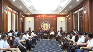 Đoàn công tác của tỉnh Cao Bằng chào xã giao Bí thư Thành ủy Thành phố Hồ Chí Minh