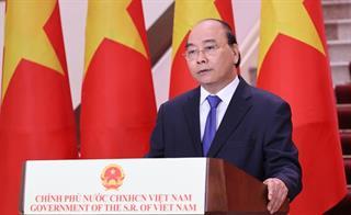 Thủ tướng Nguyễn Xuân Phúc phát biểu chúc mừng Hội chợ Trung Quốc-ASEAN lần thứ 17
