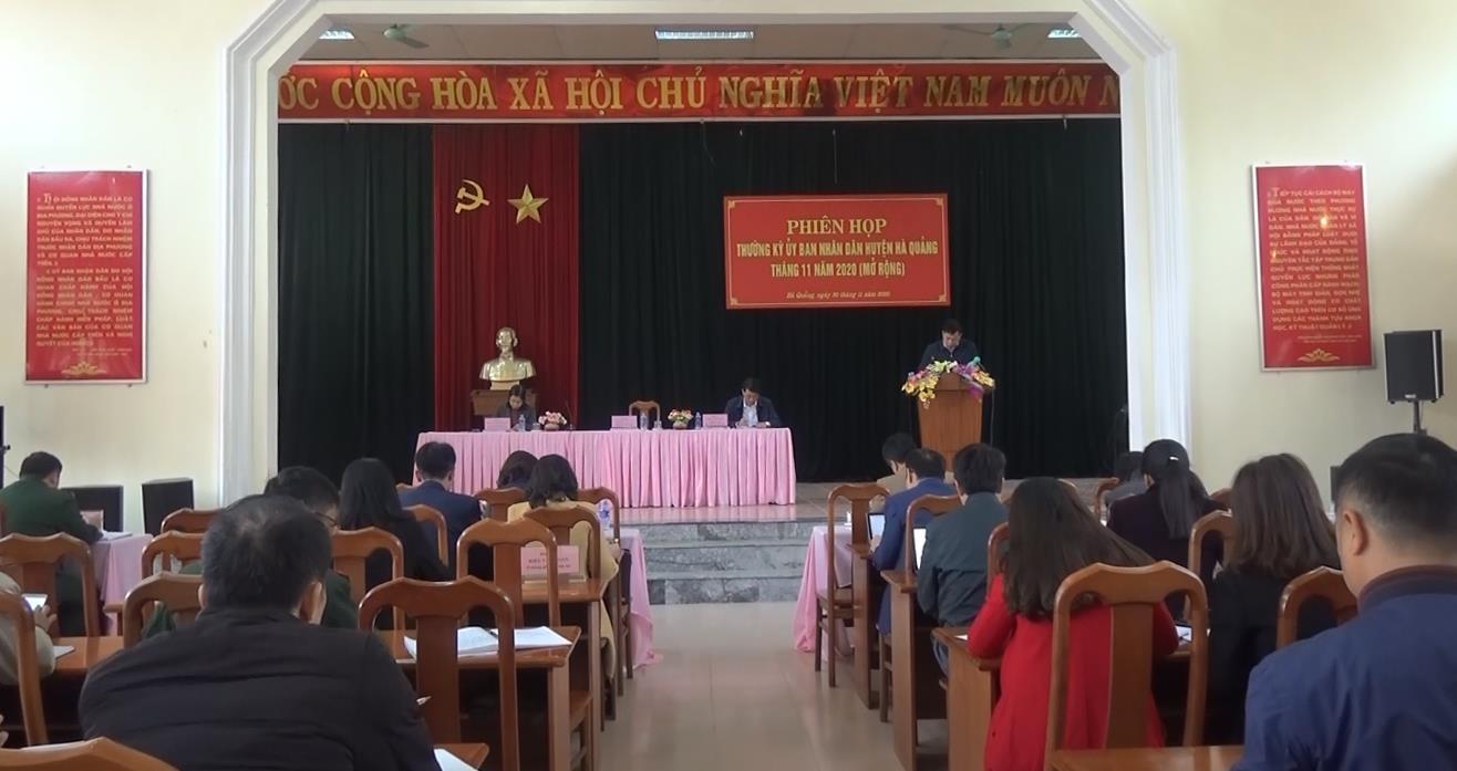Hà Quảng: UBND huyện họp phiên thường kỳ tháng 11/2020