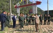 Đoàn công tác Quân khu 1 kiểm tra, thống nhất vị trí xây dựng doanh trại mới Ban CHQS huyện Hà Quảng