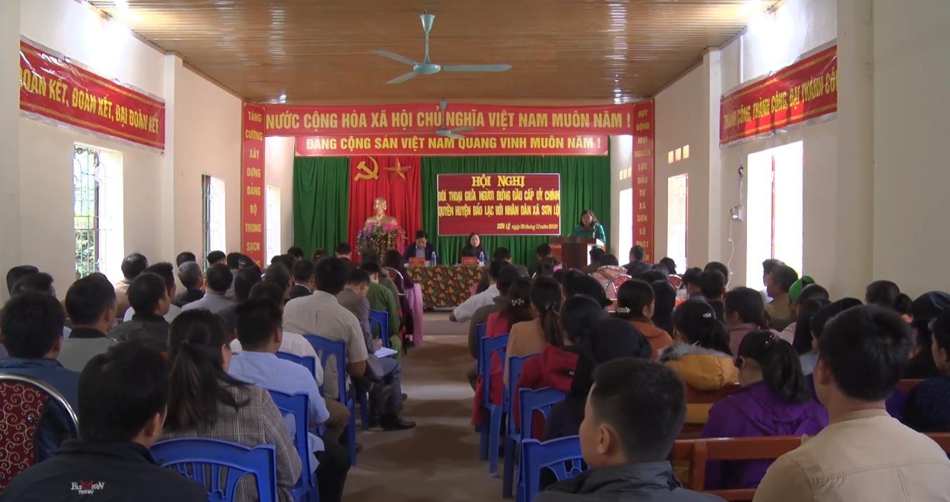 Bảo Lạc: Đối thoại trực tiếp giữa người đứng đầu cấp ủy, chính quyền huyện với nhân dân xã Sơn Lộ