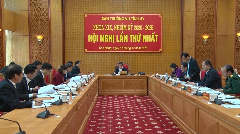 Hội nghị lần thứ nhất Ban Thường vụ Tỉnh ủy Khóa XIX, nhiệm kỳ 2020 - 2025