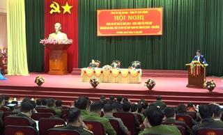 Hội nghị đánh giá công tác phối hợp đảm bảo an ninh, trật tự khu vực giáp ranh hai tỉnh Hà Giang, Cao Bằng