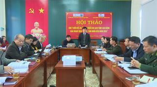"""Hội thảo xin ý kiến về """"Đề án phát triển du lịch tỉnh Cao Bằng giai đoạn 2020 - 2025, tầm nhìn đến năm 2035"""""""
