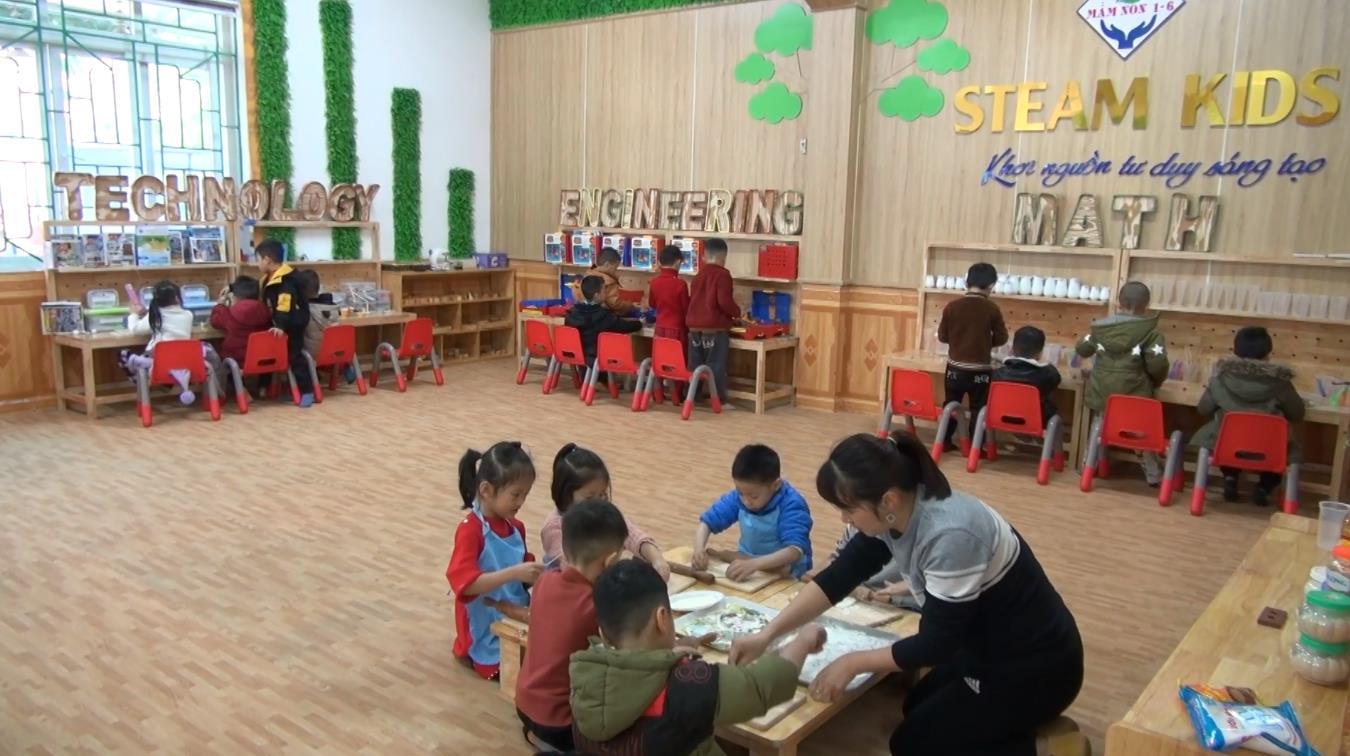 Tạo môi trường sáng tạo cho trẻ từ phương pháp dạy học STEAM