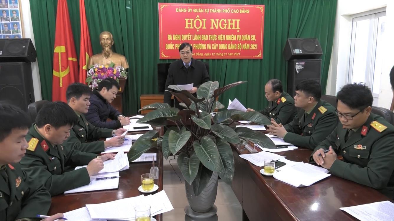 Đảng ủy Quân sự thành phố ra nghị quyết lãnh đạo thực hiện nhiệm vụ năm 2021