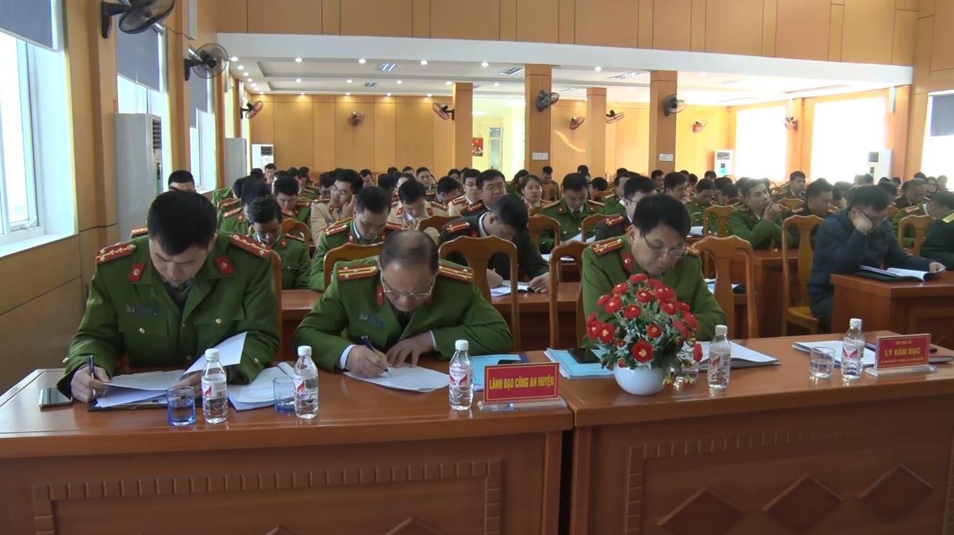 Công an huyện Quảng Hòa triển khai nhiệm vụ 2021