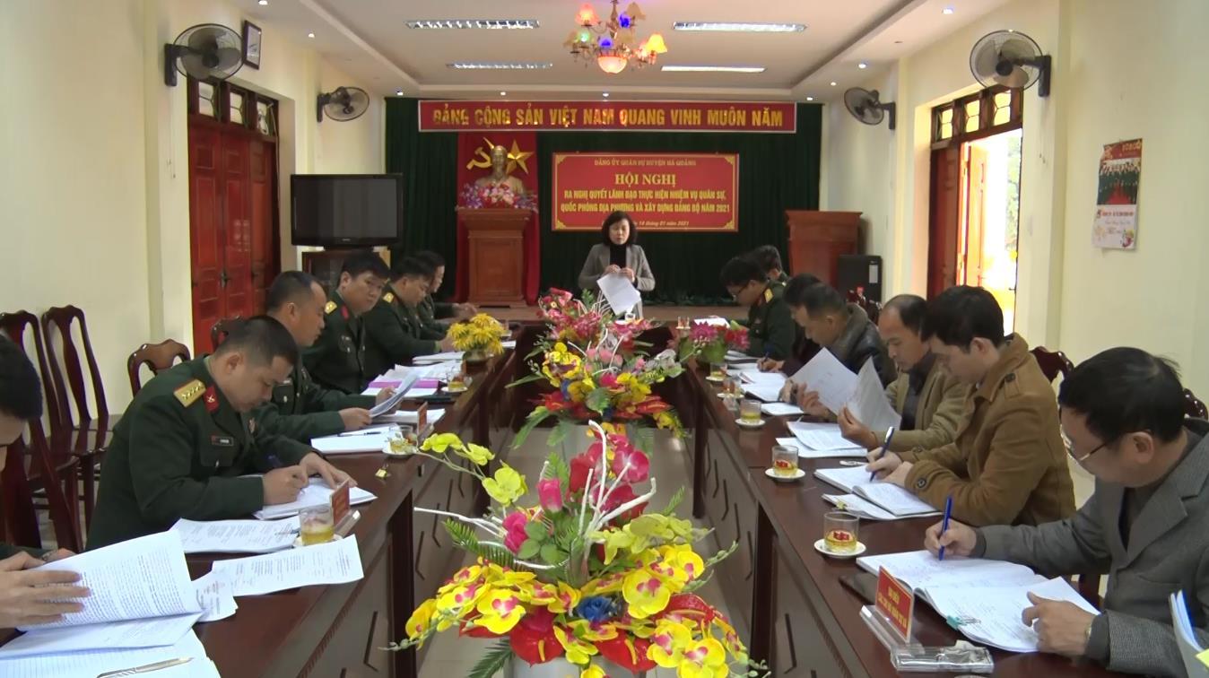 Đảng ủy Quân sự huyện Hà Quảng ra Nghị quyết lãnh đạo thực hiện nhiệm vụ quân sự, quốc phòng địa phương và xây dựng Đảng bộ năm 2021