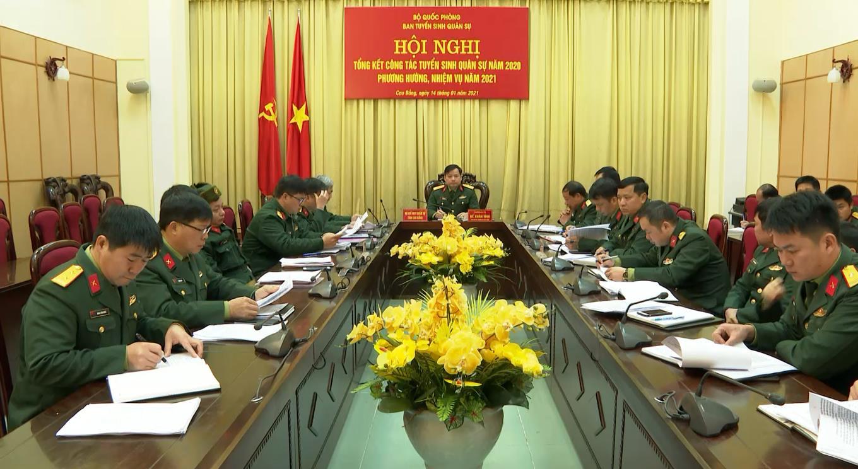 Hội nghị trực tuyến tổng kết công tác tuyển sinh quân sự năm 2020