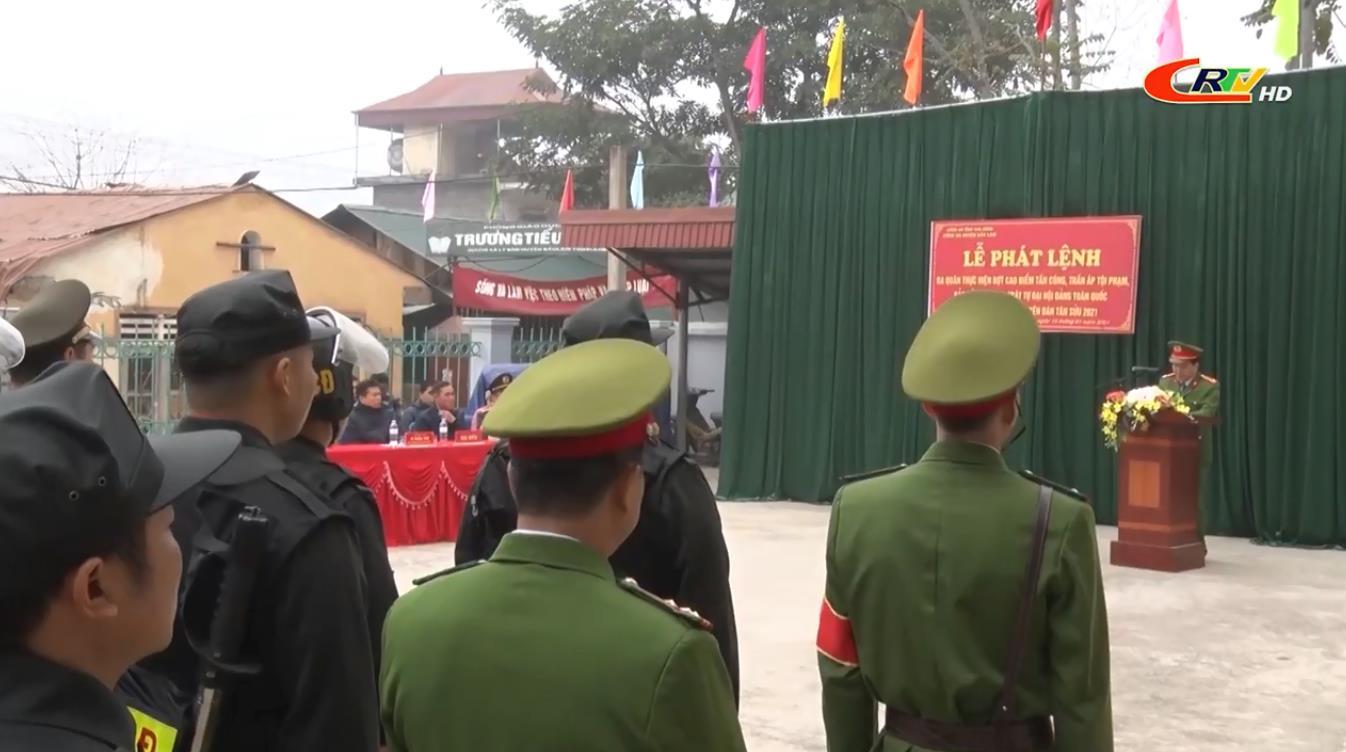 Công an huyện Bảo Lâm ra quân thực hiện đợt cao điểm tấn công, trấn áp tội phạm