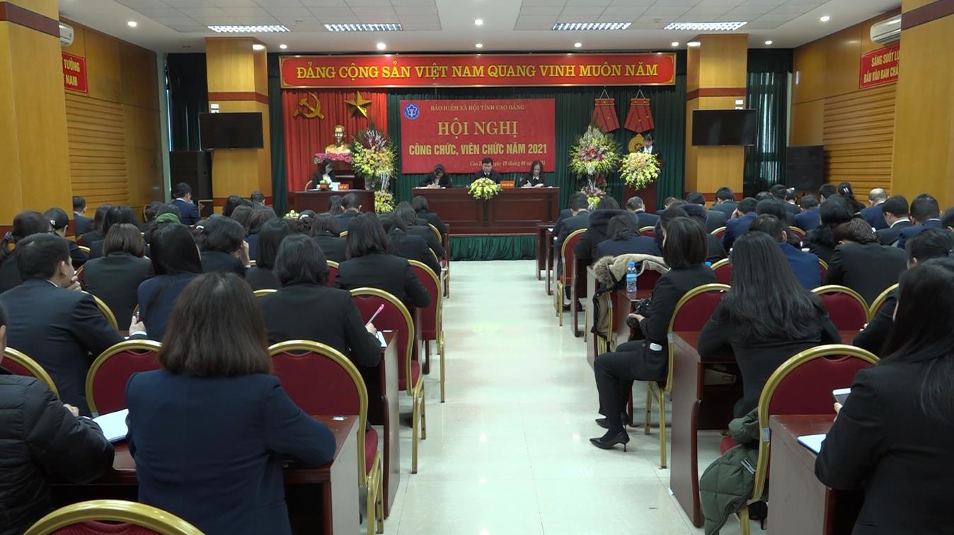 BHXH tỉnh: Hội nghị công chức, viên chức năm 2021