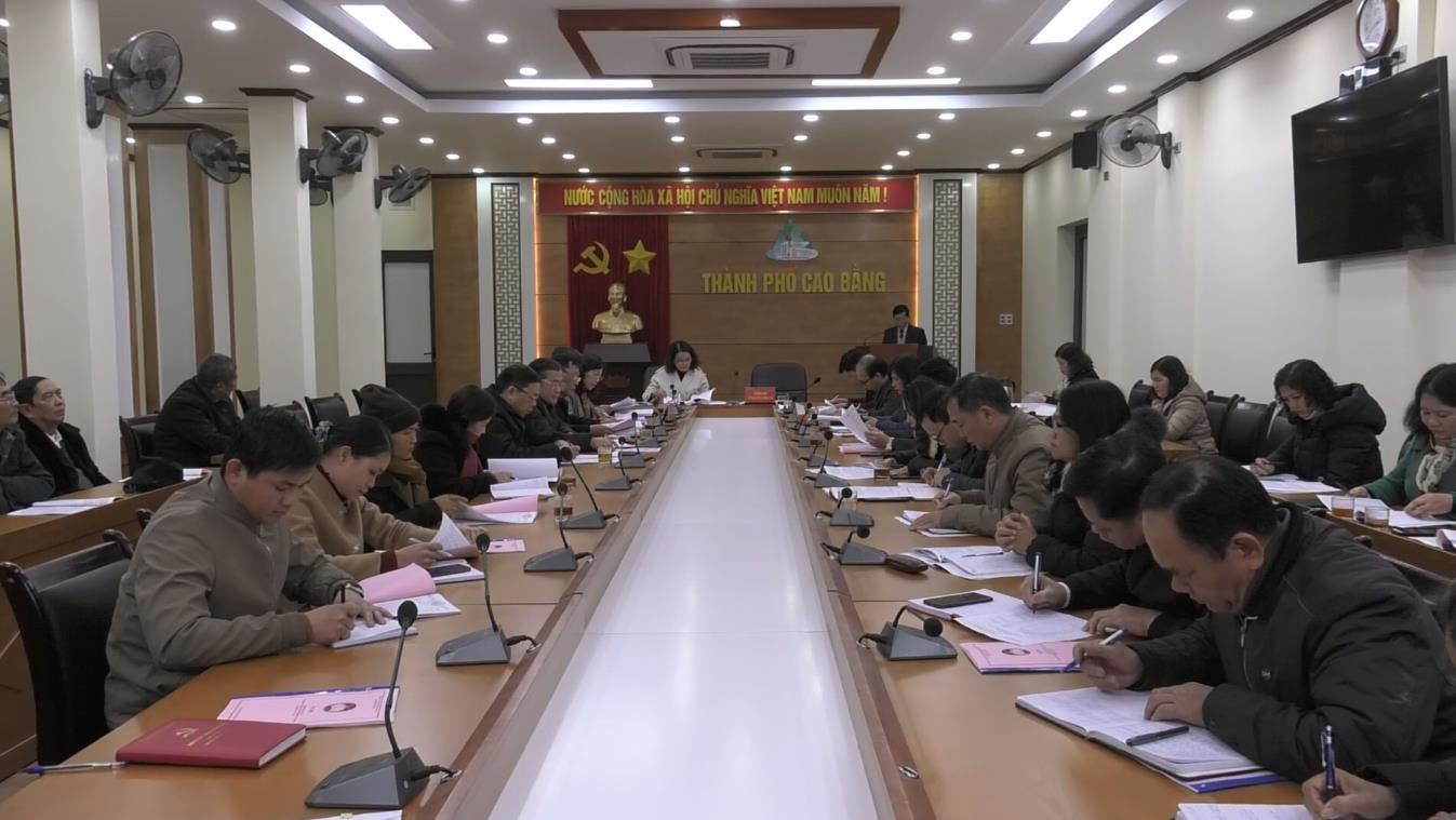 Hội nghị lần thứ 5 Ủy ban MTTQ thành phố Cao Bằng khóa XX, nhiệm kỳ 2019 - 2024