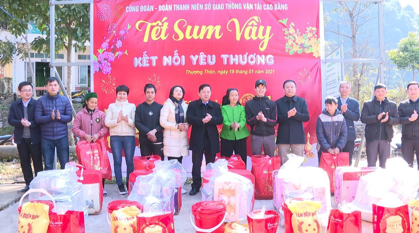 Sở Giao thông Vận tải: Tặng quà tết tại xã Thượng Thôn, huyện Hà Quảng