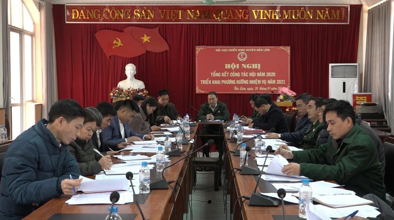 Hội Cựu chiến binh huyện Bảo Lâm triển khai công tác năm 2021