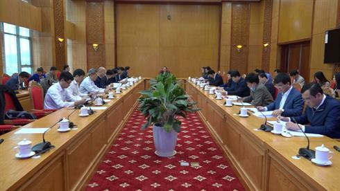 Bí thư Tỉnh ủy Lại Xuân Môn làm việc với Tổ giúp việc Ban Chỉ đạo Dự án đường bộ cao tốc Đồng Đăng (Lạng Sơn) - Trà Lĩnh (Cao Bằng)