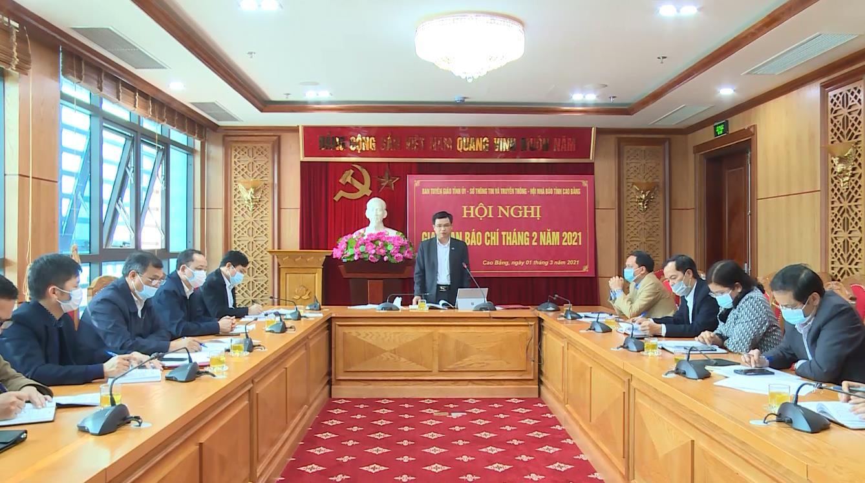 Hội nghị giao ban báo chí tháng 2/2021