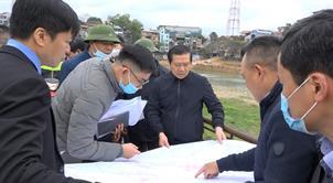 Bí thư Tỉnh ủy Lại Xuân Môn kiểm tra tiến độ triển khai một số dự án trên địa bàn thành phố Cao Bằng