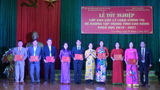 89 học viên tốt nghiệp lớp cao cấp lý luận chính trị khóa học 2019 - 2021