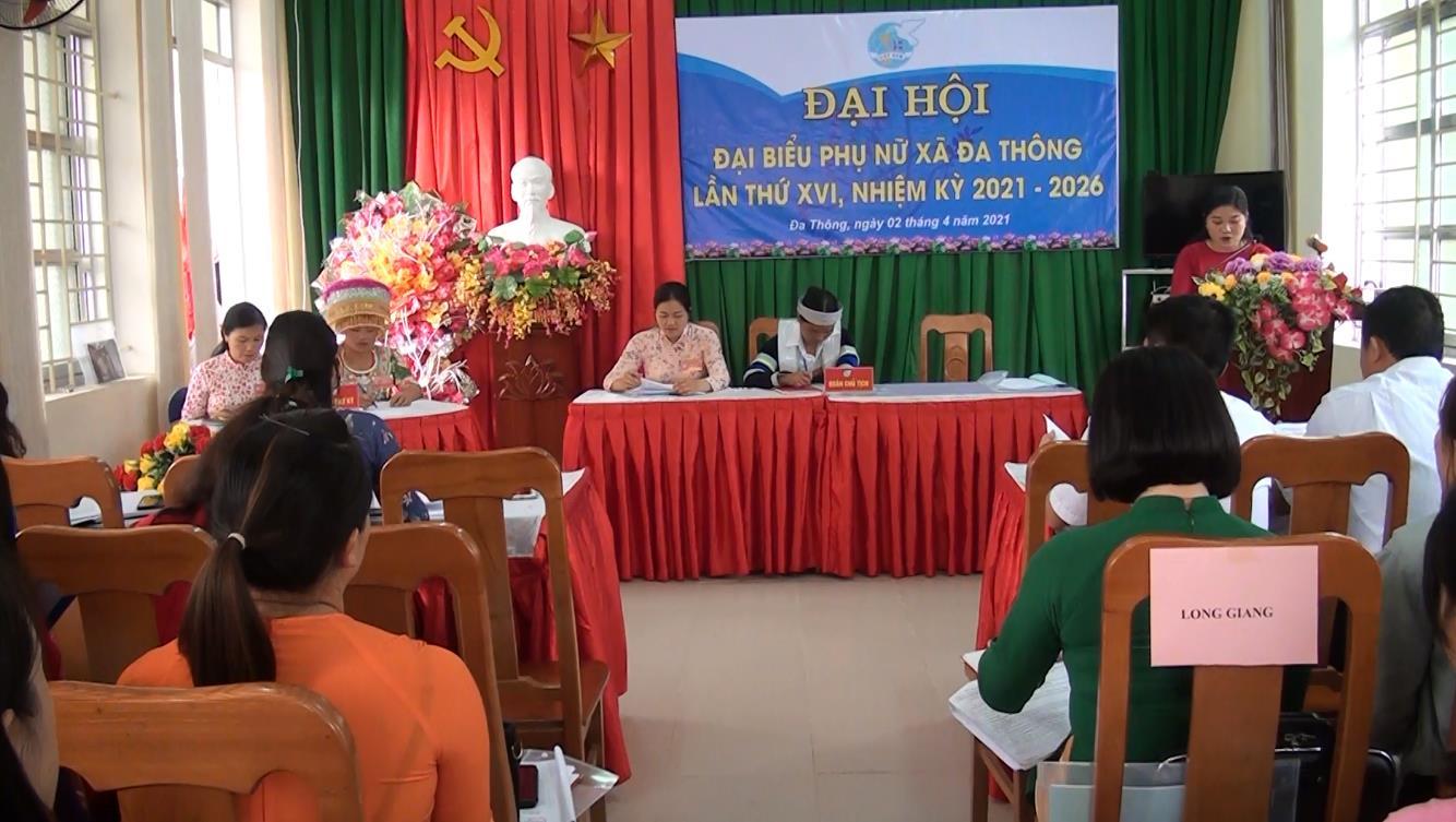 Hà Quảng: Đại hội đại biểu Hội LHPN xã Đa Thông nhiệm kỳ 2021 - 2026