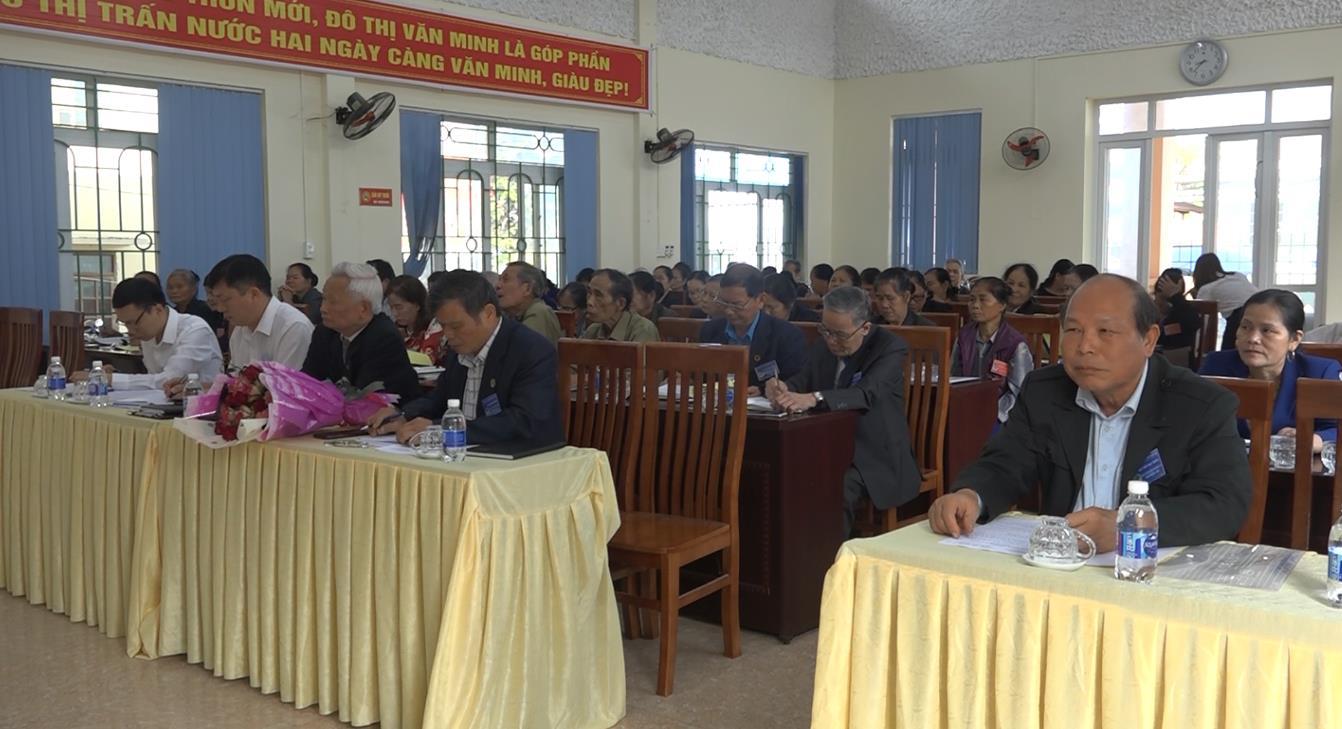 Hòa An: Đại hội đại biểu Hội Người cao tuổi thị trấn Nước Hai, nhiệm kỳ 2021 - 2026