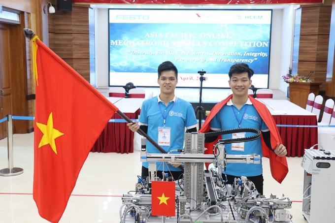 Việt Nam giành Huy chương Vàng Kỹ năng nghề Cơ điện tử online châu Á - TBD