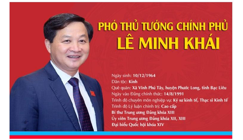 [Infographic]: Chân dung tân Phó Thủ tướng Chính phủ Lê Minh Khái