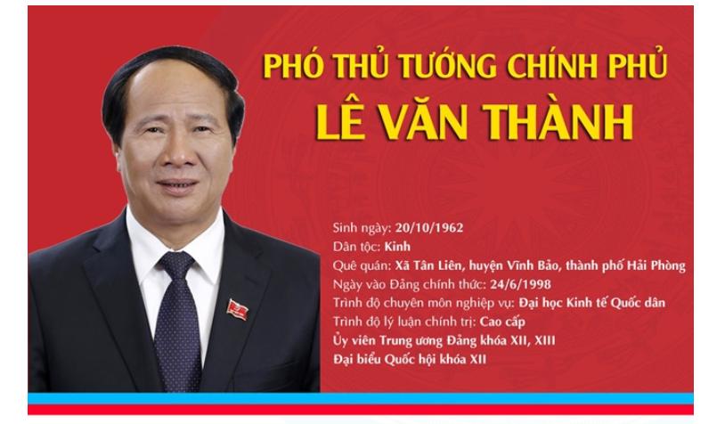 [Infographic]: Chân dung tân Phó Thủ tướng Chính phủ Lê Văn Thành