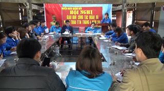 Quảng Hòa: Giao ban công tác Đoàn và phong trào thanh thiếu nhi tháng 4/2021