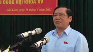 Bí thư Tỉnh ủy Lại Xuân Môn và các ứng cử viên đại biểu Quốc hội khóa XV tiếp xúc cử tri huyện Bảo Lâm