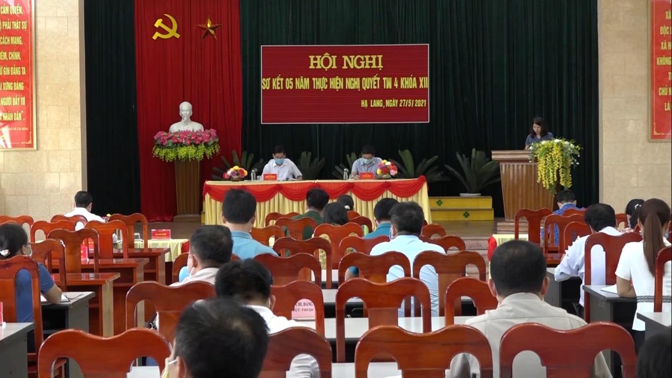 Hạ Lang: Sơ kết 5 năm thực hiện Nghị quyết Trung ương 4 khóa XII của Đảng