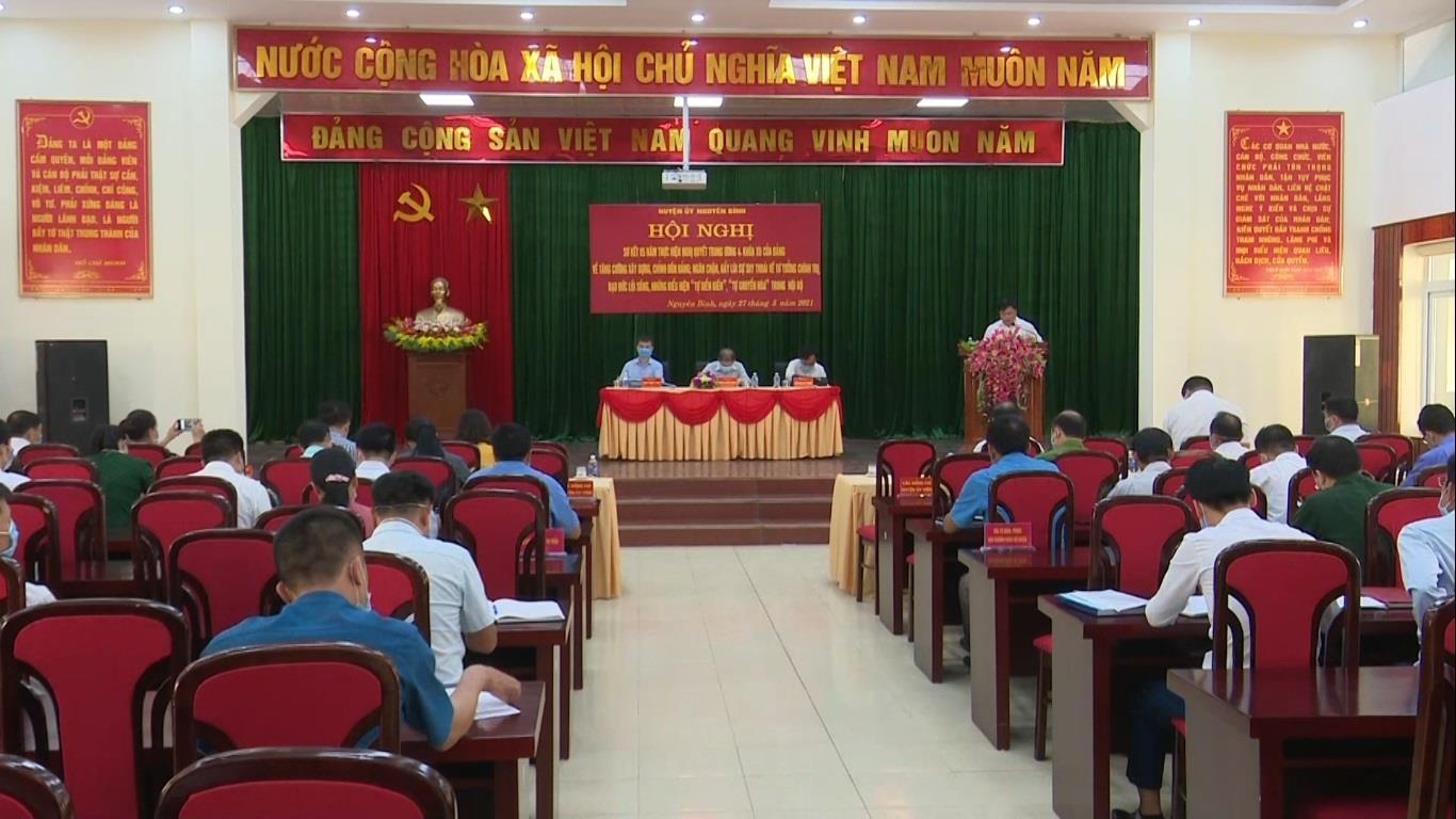 Nguyên Bình: Sơ kết 05 năm thực hiện Nghị quyết Trung ương 4 khóa XII