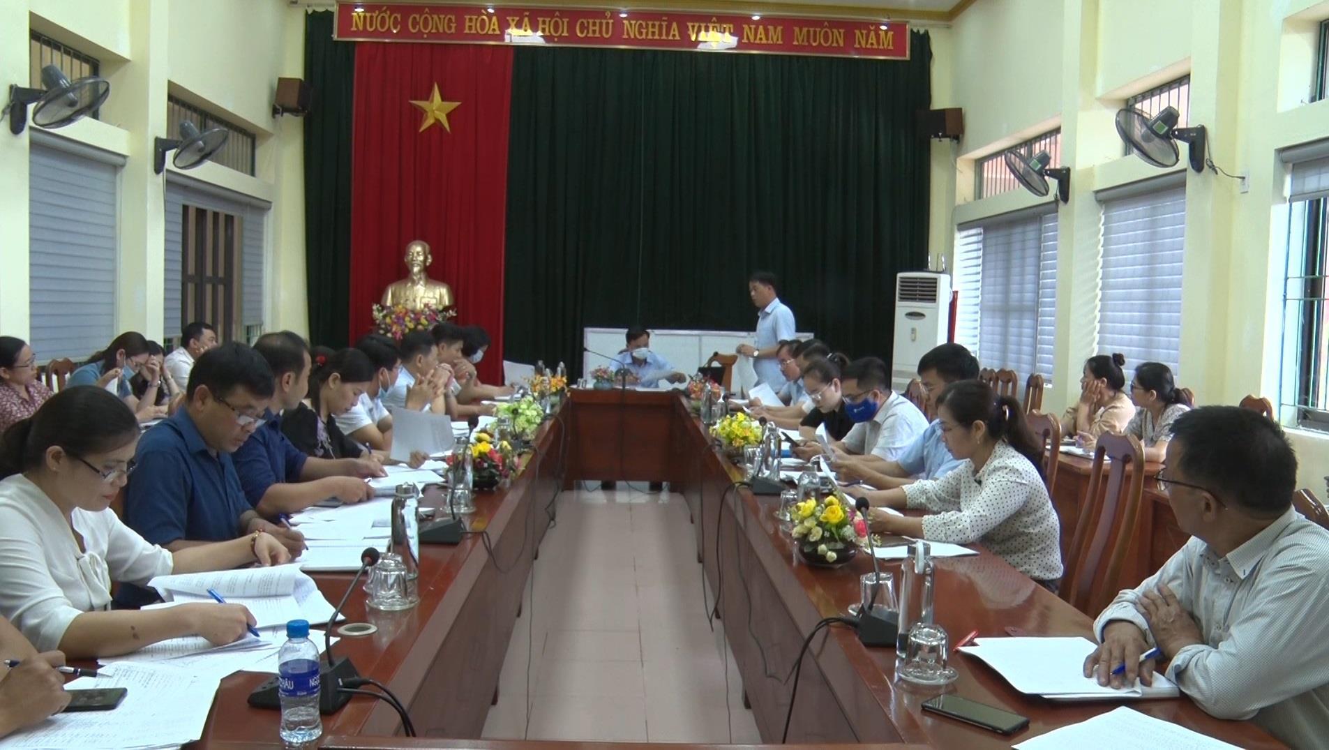 Hà Quảng: Họp Ban Chỉ đạo xây dựng nông thôn mới