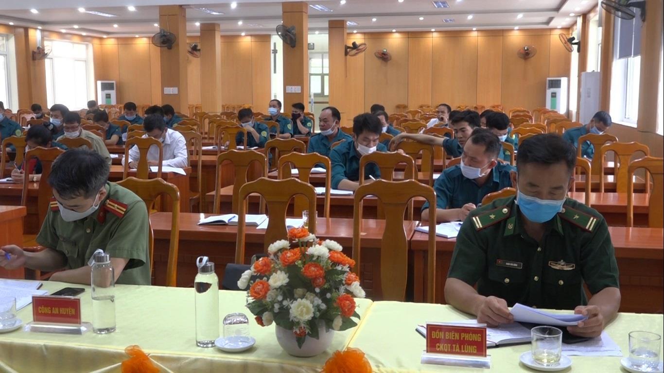 Quảng Hòa: Hội nghị sơ kết công tác quân sự, quốc phòng địa phương 6 tháng đầu năm 2021